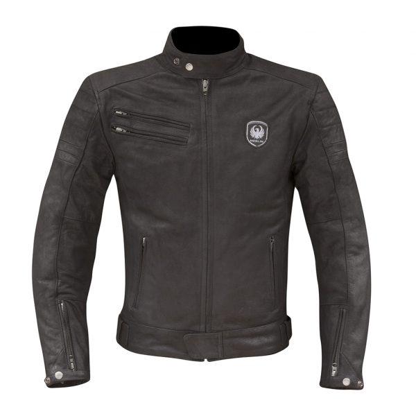 Merlin Alton Leather Jacket in black