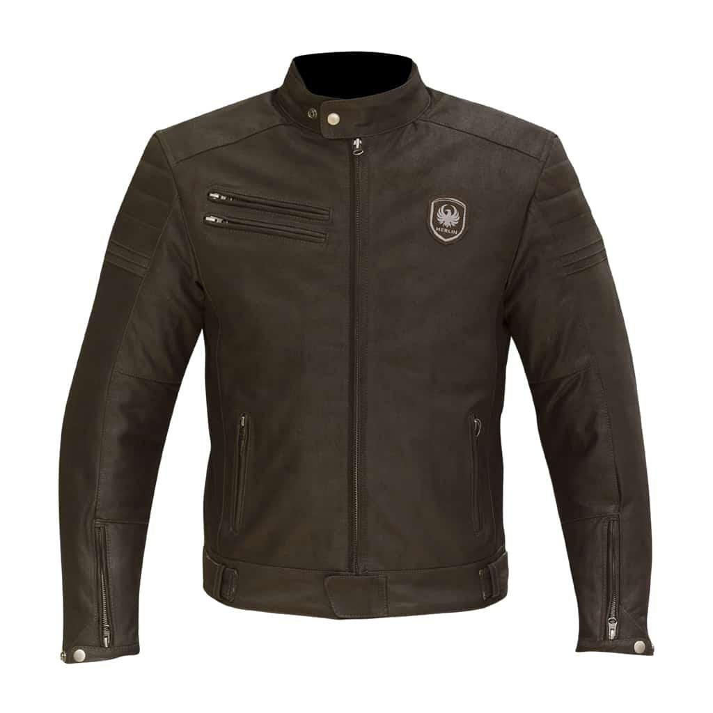 Merlin Alton Leather Jacket in brown