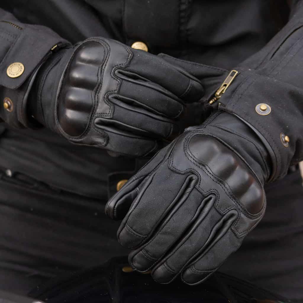 Merlin Glenn motorcycle gloves in black