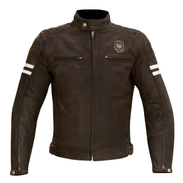 Merlin Hixon Leather Jacket in brown