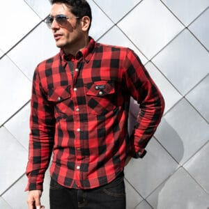 Merlin Axe Riding Shirt in red/black