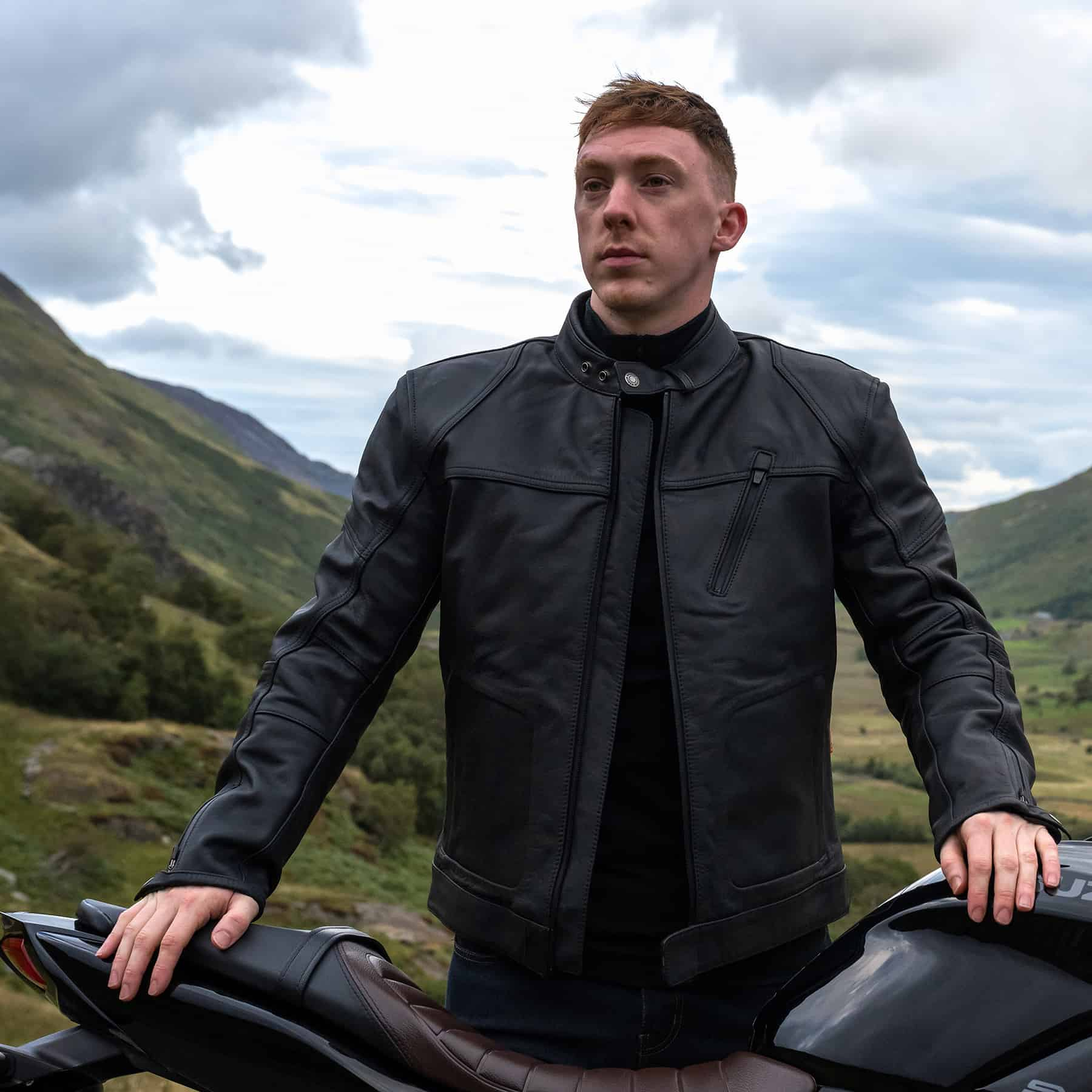 Merlin Gable leather jacket in black
