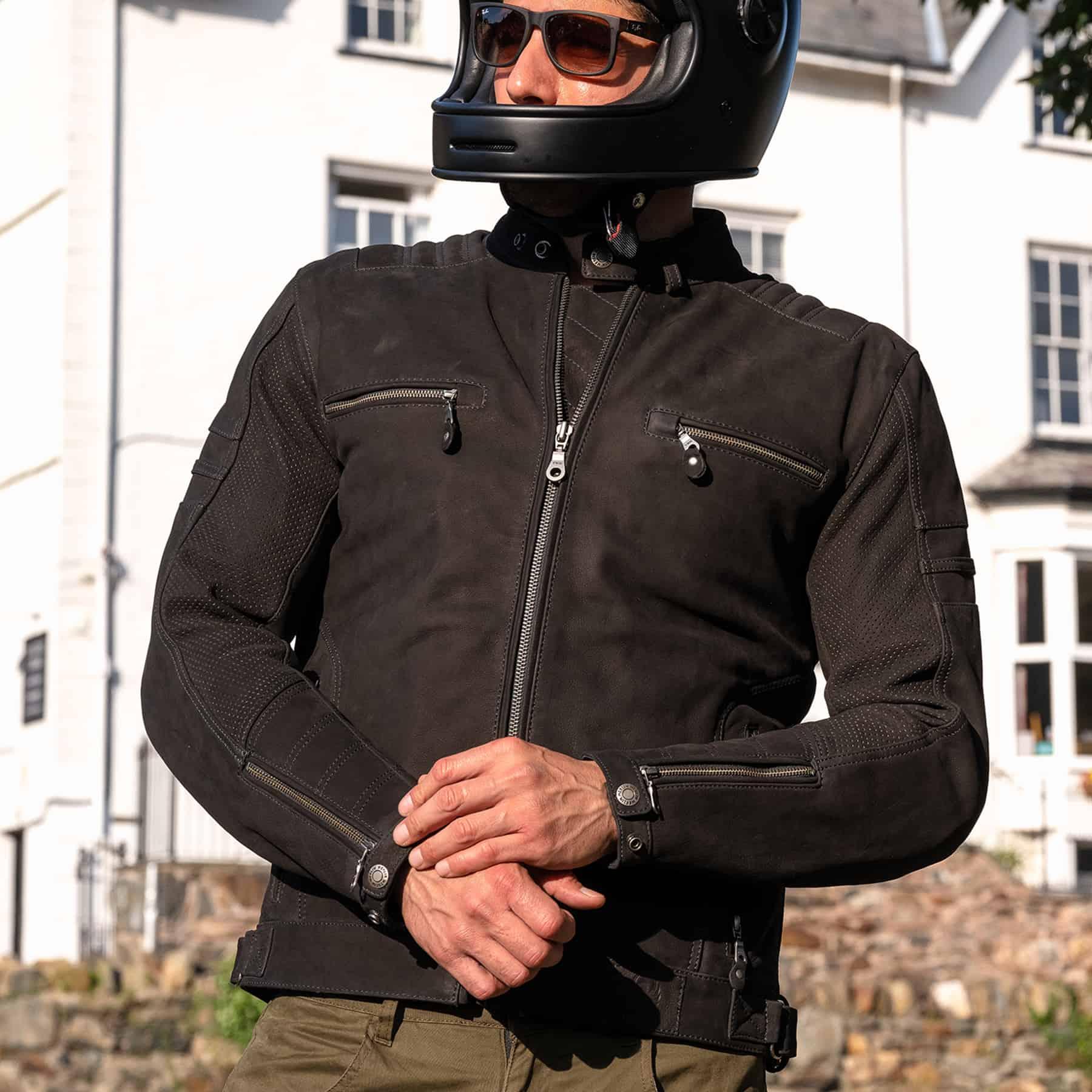 Merlin Miller leather jacket in black