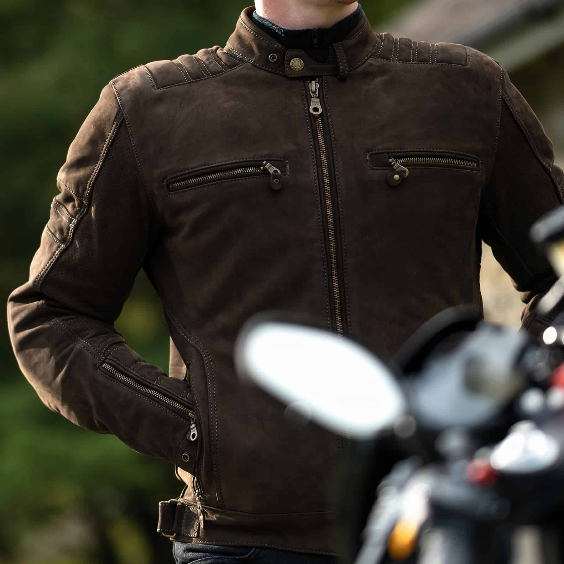 Merlin Miller leather jacket in brown
