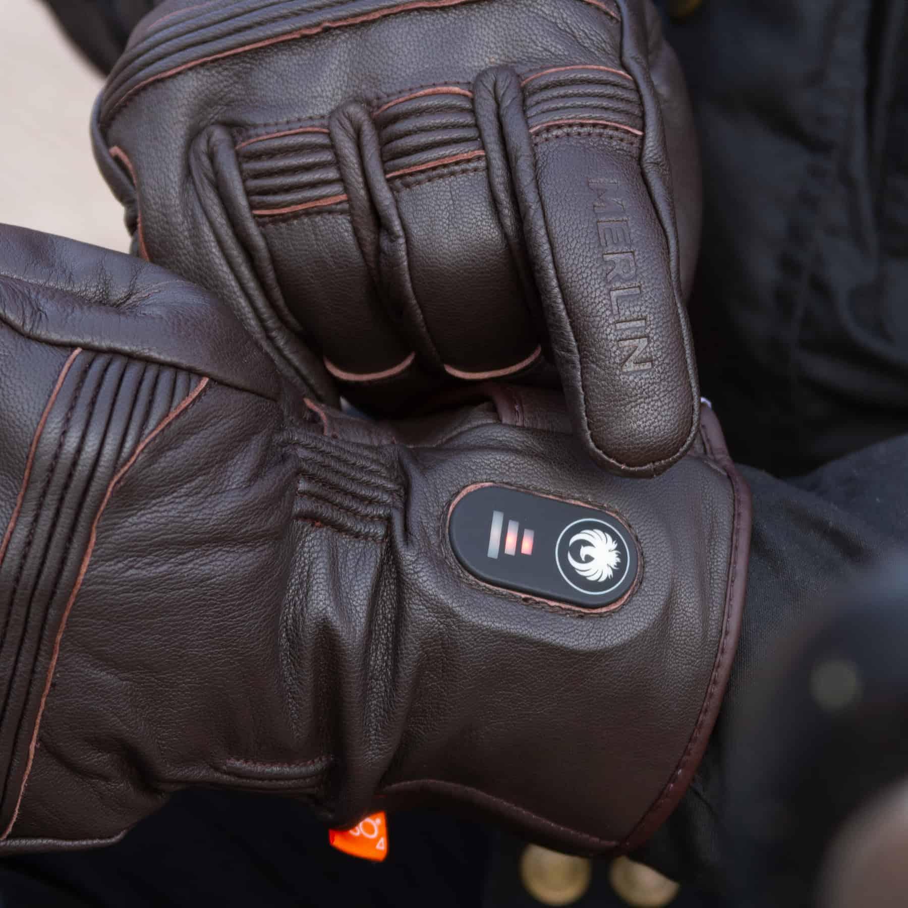 Merlin Minworth Heated motorcycle glove in dark brown